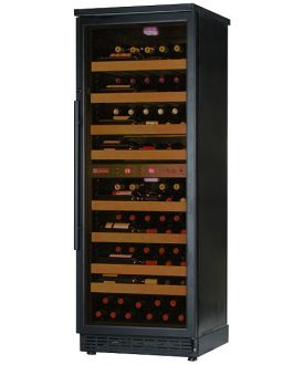 Enlarge Allavino CWR273D-2BB 97 Bottle Dual-Zone Wine Cellar Refrigerator - Black Cabinet with Black Door