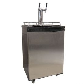 Enlarge Danby DBF163SS-2  Dual-Faucet Kegerator - Full Size Beer Cooler with Stainless Steel Door