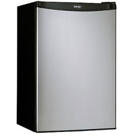 Enlarge Danby DCR122BSLDD 4.3 Cubic Foot Counterhigh Compact Refrigerator - Black with Stainless Steel Door