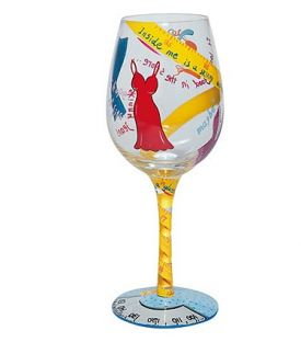 Enlarge Kind of on a Diet Wine Glass by Lolita Love My Wine Collection