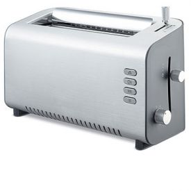 Enlarge DeLonghi DTT312 2-Slice Toaster - Brushed Aluminum and Grey