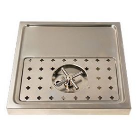 Enlarge DP-1604- Stainless Steel Rinser Drain Drip Tray - 15 3/4