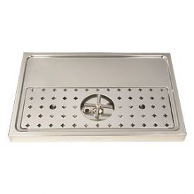 Enlarge DP-1605 - Stainless Steel Rinser Drain Drip Tray - 23 5/8