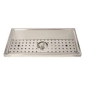 Enlarge DP-1606 - Stainless Steel Rinser Drain Drip Tray - 31-1/2