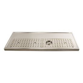 Enlarge DP-1608 - Stainless Steel Rinser Drain Drip Tray - 47-1/4