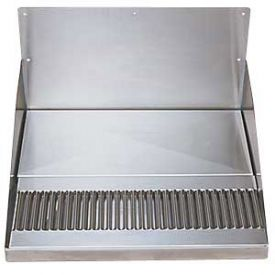 Enlarge DP-520D - Barrel Head Stainless Steel Drip Tray w/ Backsplash & Drain