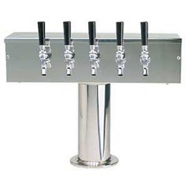 Enlarge DS-355-PSS Stainless Steel Five Faucet T-Style Draft Tower - 4 Inch Column