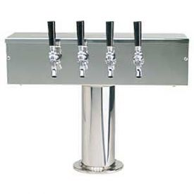 Enlarge DS-354-PSS Stainless Steel Four Faucet T-Style Draft Tower - 4 Inch Column