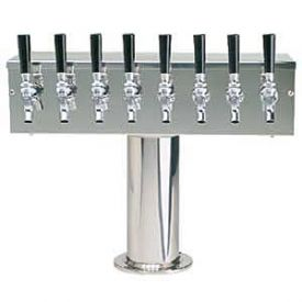 Enlarge DS-358-PSS-3 Stainless Steel Eight Faucet T-Style Draft Tower - 4 Inch Column
