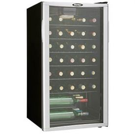 Enlarge Danby DWC350BLPA 35-Bottle Wine Cooler - Platinum Door Trim