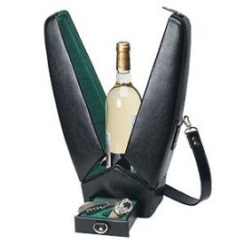 Enlarge Picnic Time Encore Insulated Deluxe Wine Tote - Black & Green