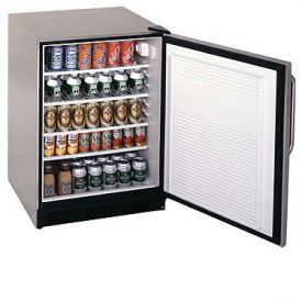 Enlarge Summit FF8SSTB Stainless Steel 5.5 c.f. All Refrigerator