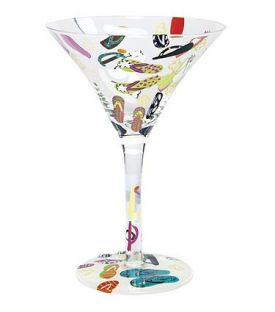 Enlarge Flip-Flops Martini Glass by Lolita Love My Martini