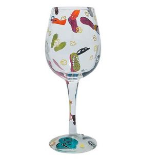 Enlarge Flip Flops Wine Glass by Lolita Love My Wine Collection