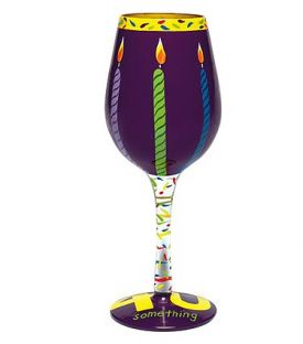 Enlarge Forty Something Wine Glass by Lolita Love My Wine Stemware Collection