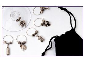 Enlarge Wine Glass Charms Gourmet Collection Set of 12