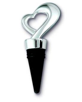 Enlarge Framed Heart Silver Plated Bottle Stopper