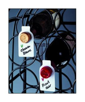 Enlarge Wine Bottle ID Tags - Set of 50 w/Marking Pen
