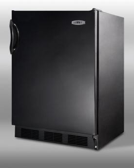 Enlarge Summit AL752B - Black Cabinet & Solid Door