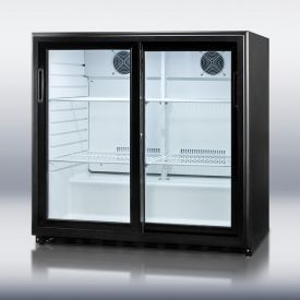 Enlarge Summit SCR700 6.5 cf Undercounter Beverage Cooler w/Sliding Glass Doors