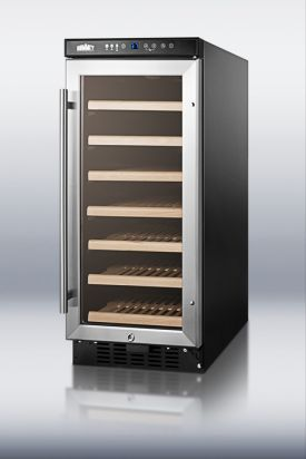 Enlarge Scratch & Dent - Summit SWC1535 33-Bottle Built-in Undercounter Wine Cooler