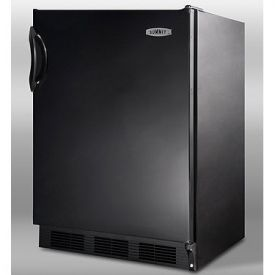 Enlarge Summit CT66B 5.3 cf Undercounter Refrigerator-Freezer - Black