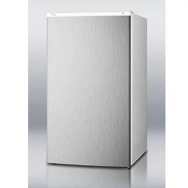 Enlarge Summit FF41SS 3.6 cf Refrigerator-Freezer with Stainless Steel Door - White