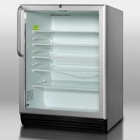 Enlarge Summit SCR600BLCSS 5.5 cf Glass Door All Refrigerator