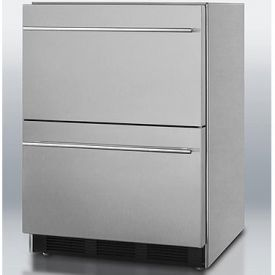Enlarge Summit SP6DS2D Stainless Steel 2-Drawer Refrigerator