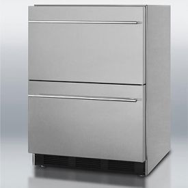 Enlarge Summit SP6DS2DADA Stainless Steel 2-Drawer Refrigerator, ADA Compliant