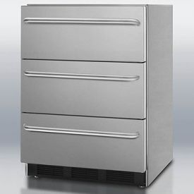 Enlarge Summit SP6DSSTB7ADA Stainless Steel 3-Drawer Refrigerator, ADA Compliant - ETL-S