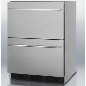 Enlarge Summit SP6DS2DOS Stainless Steel 2-Drawer Outdoor Refrigerator