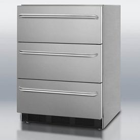 Enlarge Summit SPF5DSSTBADA Stainless Steel 3-Drawer All-Freezer, ADA Compliant