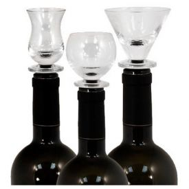 Enlarge Final Touch 3 Piece Glass Stopper Set with Stand
