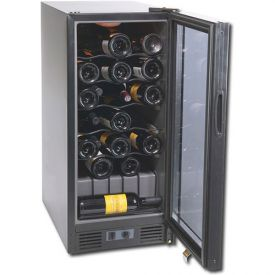 Enlarge Scratch & Dent - Haier HVC15BBH 31 Bottle Built-in Wine Refrigerator with Black Door
