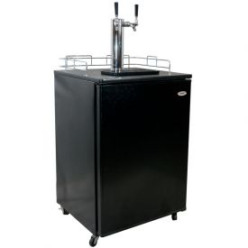 Enlarge Haier HBF05EABNK-2 Kegerator Dual Faucet - Black Cabinet with Black Door