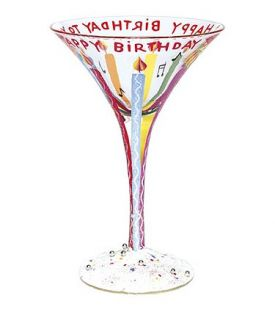 Enlarge Happy Birthday Martini Glass by Lolita Love My Martini