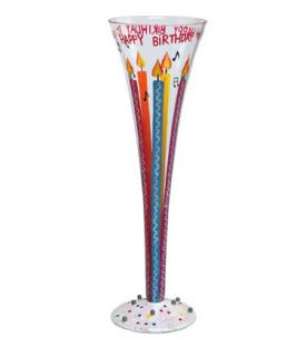 Enlarge Happy Birthday Champagne Flute Glass by Lolita Champagne Moments Collection