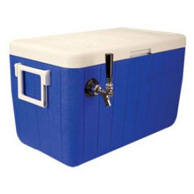 Enlarge HDCP-D1-48B - Single Faucet Jockey Box - 48 Qt. Cold Plate Cooler - Blue