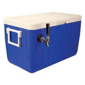 Enlarge HDCP-D1-48B - Single Faucet Jockey Box - 48 Qt. Cold Plate Cooler - Blue