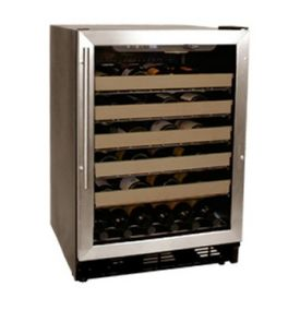 Enlarge Haier HVCE24CBH 50 Bottle Stainless Steel Built-in Wine Refrigerator