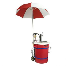 Enlarge JEPK-DA-CH-U - Draft Kart with Umbrella, Chrome Draft Tower