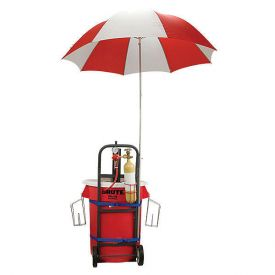 Enlarge JEPK-DA-U - Draft Kart with Umbrella, Black Draft Tower