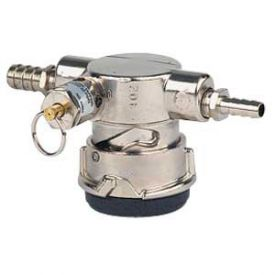 Enlarge Perlick Lo-Boy Low Profile D System Keg Tap Coupler w/ Pressure Relief