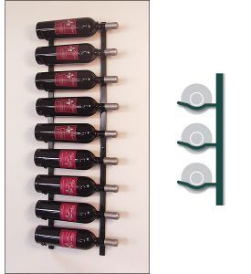 Enlarge Vintage View MAG1-P - 9 Magnum / Champagne Bottle Wine Rack - Platinum Series Finish
