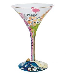 Enlarge Miami-tini Martini Glass by Lolita Love My Martini Collection
