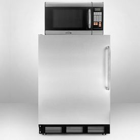 Enlarge Summit MRF67SSTB Refrigerator-Microwave Combo - Stainless Steel Door