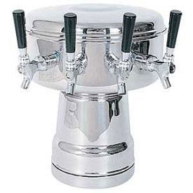 Enlarge MTB-4PSS Chrome 4-Faucet Mushroom Draft Beer Tower - 7-1/2