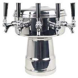 Enlarge MTB-5PSS Chrome 5-Faucet Mushroom Draft Beer Tower - 7-1/2