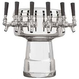 Enlarge MTB-6PSS Chrome 6-Faucet Mushroom Draft Beer Tower - 7-1/2